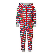 Buy John Lewis Children's Dino Striped Onesie, Multi Online at johnlewis.com