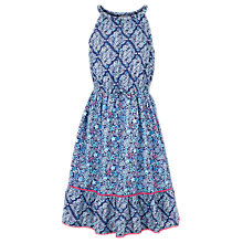 Buy Fat Face Girls' Edith Tile Print Maxi Dress, Blue Online at johnlewis.com