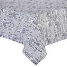 Buy John Lewis Nordic Wipe Clean Tablecloth, Blue Online at johnlewis.com