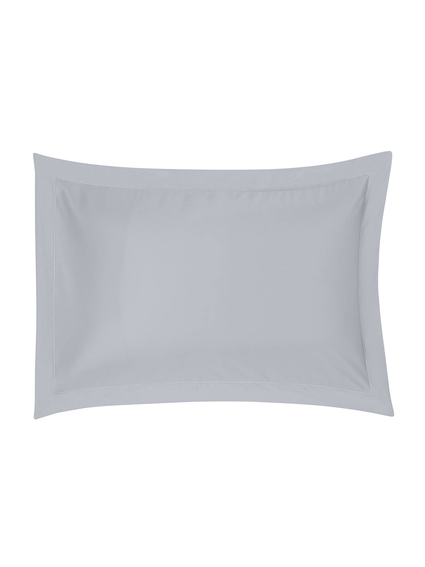 BuyJohn Lewis & Partners Soft & Silky Egyptian Cotton 800 Thread Count Standard Pillowcase, Cool Grey Online at johnlewis.com
