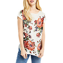 Buy Oasis Rose Slub T-Shirt, Coral/Multi Online at johnlewis.com