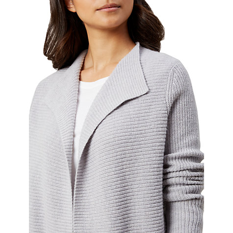 Buy Hobbs Ellen Cardigan, Silver Grey Melange Online at johnlewis.com