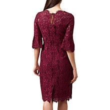 Buy Hobbs Vanessa Dress, Dark Magenta Online at johnlewis.com