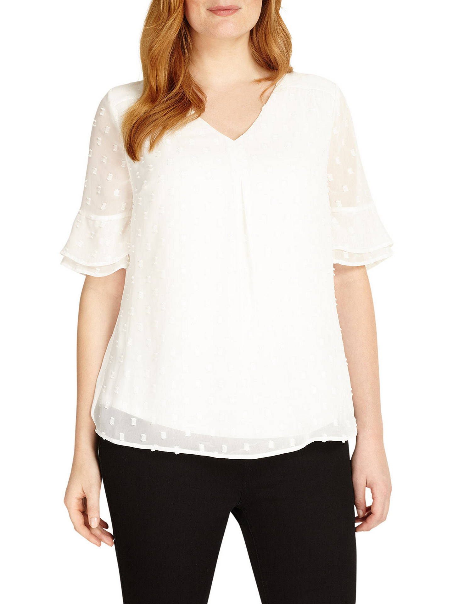 BuyStudio 8 Lisa-Marie Blouse, Ivory, 12 Online at johnlewis.com