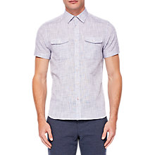 Buy Ted Baker Alvor Shirt, Grey Online at johnlewis.com