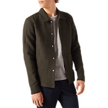 Buy Jigsaw Cotton Blend Overshirt, Fir Green Online at johnlewis.com