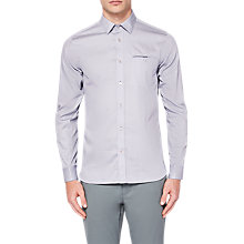 Buy Ted Baker Vilamor Shirt, Grey Online at johnlewis.com