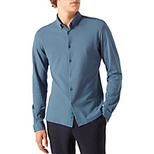 Buy Jigsaw Jersey Shirt, Slate Blue Online at johnlewis.com