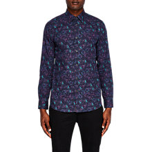 Buy Ted Baker Karaf Long Sleeve Shirt, Navy Online at johnlewis.com