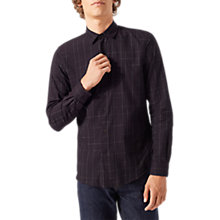 Buy Jigsaw Check Cotton Shirt, Redwood Online at johnlewis.com
