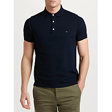 Buy Tommy Hilfiger Slim Polo Shirt, Navy Online at johnlewis.com