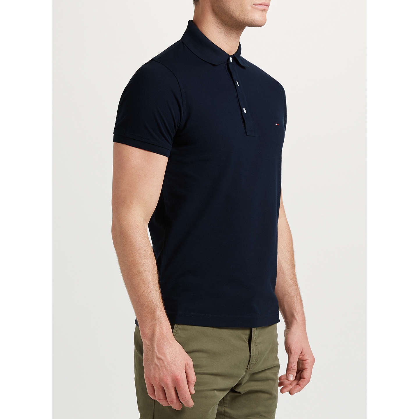 BuyTommy Hilfiger Slim Polo Shirt, Navy, S Online at johnlewis.com