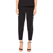 Buy Ted Baker Aliso Crepe Pleat Hem Jogger, Black Online at johnlewis.com
