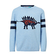 Buy John Lewis Boys' Dinosaur Knitted Jumper, Blue Online at johnlewis.com