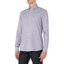 Buy Reiss Reacher Micro Houndstooth Regular Fit Shirt, Navy Online at johnlewis.com