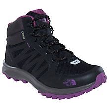 Buy The North Face Litewave Explore Mid GTX Women's Hiking Boots, Black/Purple Online at johnlewis.com
