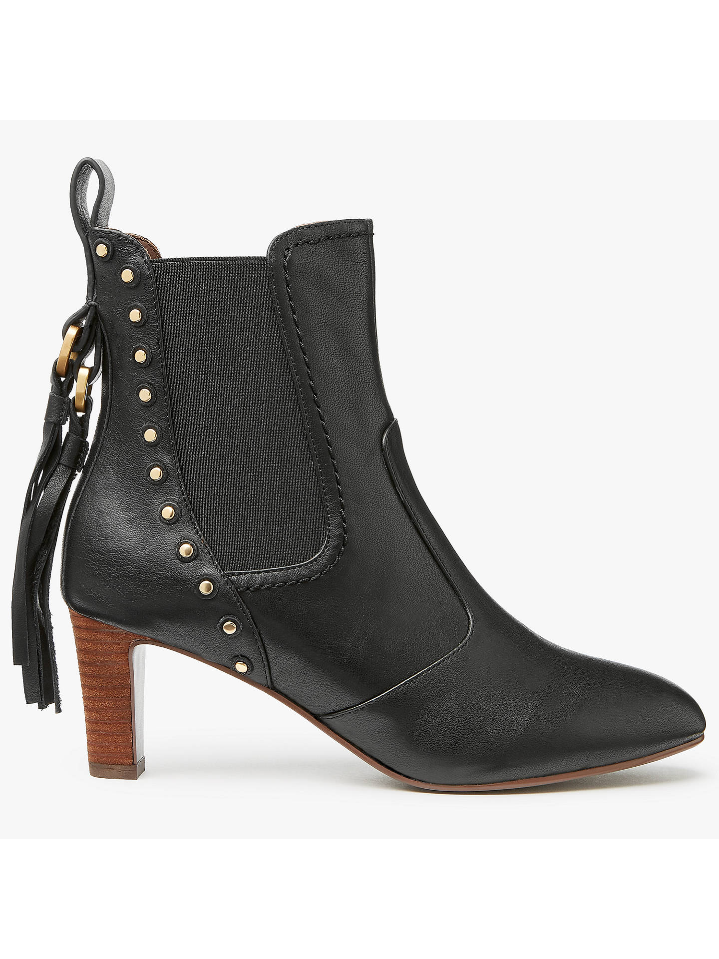 b9ed5e92866ab See by Chloé Dasha Block Heeled Ankle Chelsea Boots at John Lewis ...