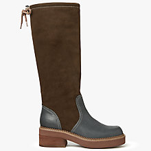 Buy See by Chloé Dominika Country Calf Boots, Dark Brown Online at johnlewis.com