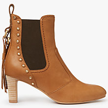 Buy See by Chloé Dasha Block Heeled Ankle Chelsea Boots, Brown Online at johnlewis.com