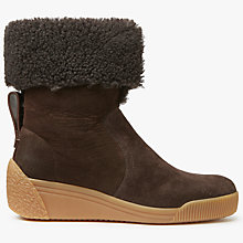 Buy See by Chloé Daria Wedge Heeled Ankle Boots, Dark Brown Online at johnlewis.com