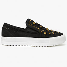 Buy See by Chloé Dasha Fantasy Embellished Slip On Trainers, Black Suede Online at johnlewis.com