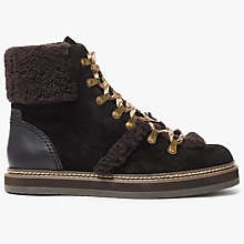 Buy See by Chloé Eileen Lace Up Ankle Boots, Black Online at johnlewis.com