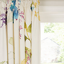 Buy bluebellgray Botanical Lined Pencil Pleat Curtains Online at johnlewis.com
