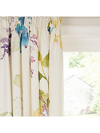 bluebellgray Botanical Pair Lined Pencil Pleat Curtains