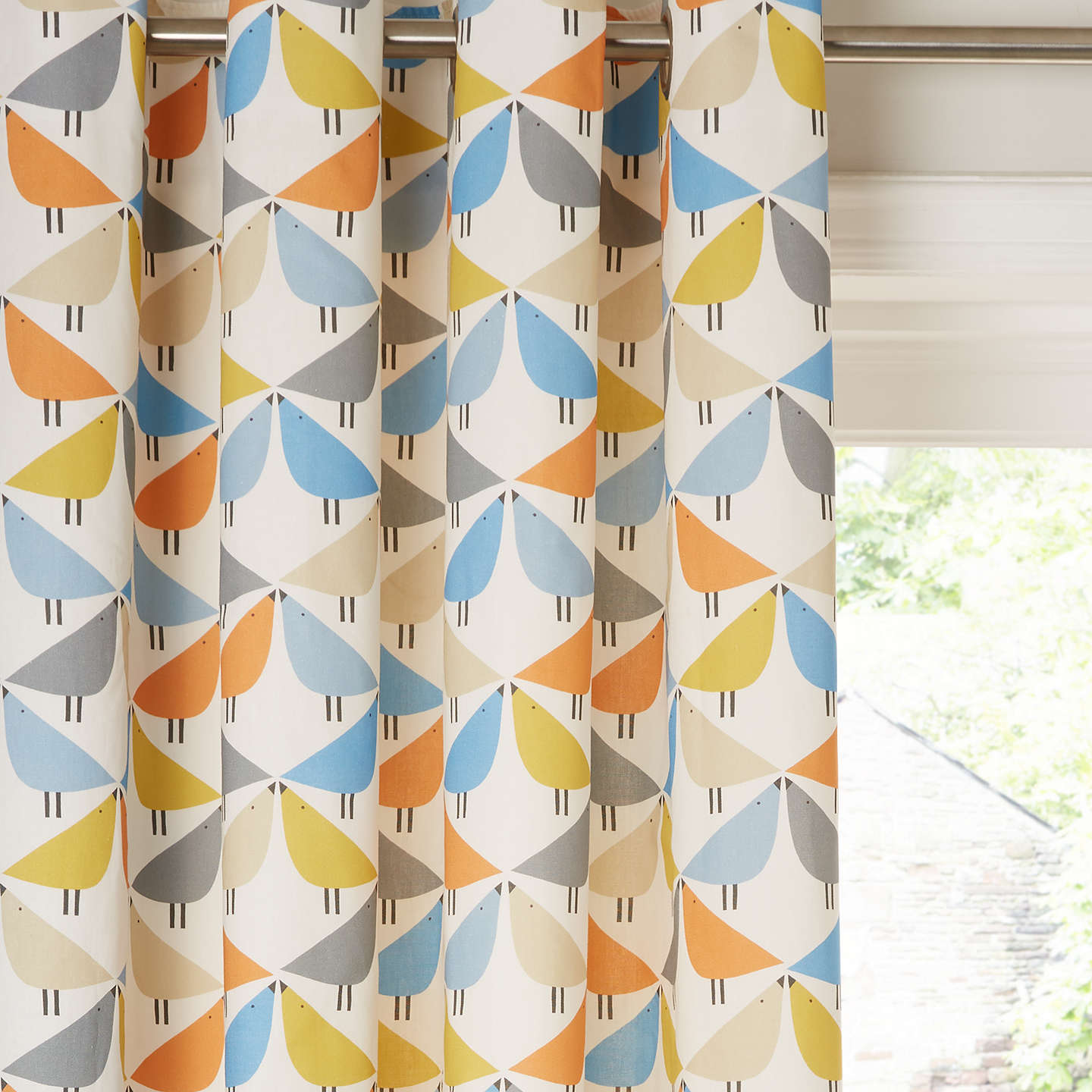 Scion Lintu Pair Lined Eyelet Curtains by Scion