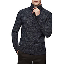 Buy Reiss Armour Knit Jumper, Navy Online at johnlewis.com
