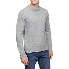 Buy Reiss Snowy Crew Neck Jumper, Soft Grey Online at johnlewis.com