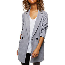 Buy Miss Selfridge Check Longline Blazer, Multi Online at johnlewis.com
