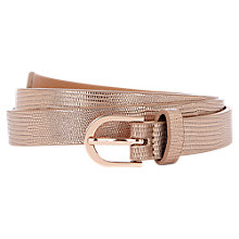Buy Oasis Skinny Metallic Snake Belt Online at johnlewis.com