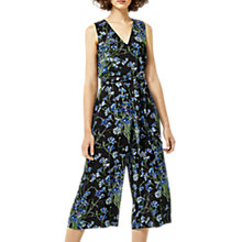 Buy Warehouse Full Bloom Jumpsuit, Black Online at johnlewis.com