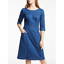 Buy Boden Corinne Denim Dress, Bright Blue Wash Online at johnlewis.com