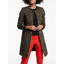 Buy Boden Imelda Animal Print Coat, Animal Mohair Online at johnlewis.com