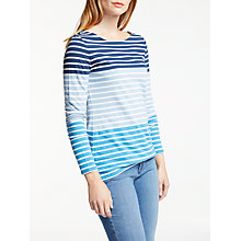 Buy Boden Long Sleeve Breton Top, Navy/Multi Online at johnlewis.com