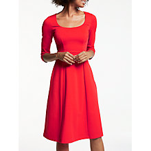 Buy Boden Julianna Ponte Dress, Post Box Red Online at johnlewis.com