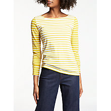 Buy Boden Long Sleeve Breton Top, Ivory/Saffron Hotchpotch Online at johnlewis.com