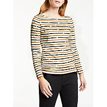 Buy Boden Make A Statement Breton Top, Ivory/Camel Gold Spot Online at johnlewis.com