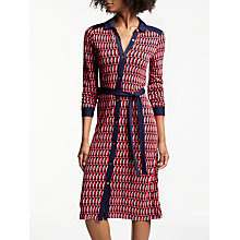 Buy Boden Samara Jersey Dress, Melon Crush Online at johnlewis.com