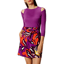 Buy Karen Millen Ring Detail Jumper, Purple Online at johnlewis.com