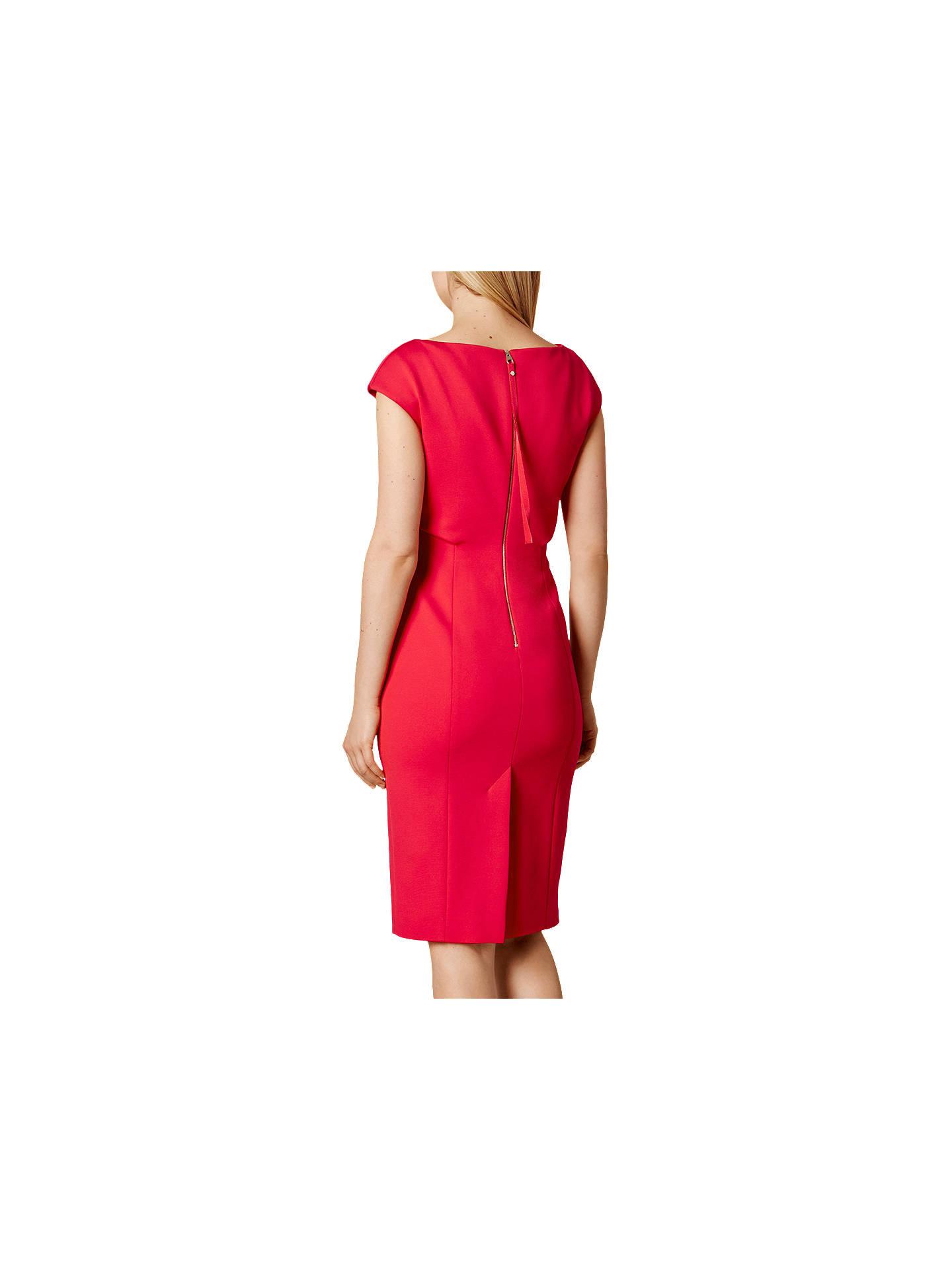 Karen Millen Double Layer Collection Dress, Pink at John Lewis ...
