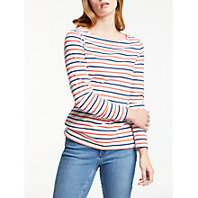 Buy Boden Long Sleeve Breton Top, Indigo/Melon Crush Online at johnlewis.com