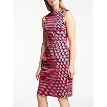 Buy Boden Martha Dress, Melon Crush/Crescent Geo Online at johnlewis.com