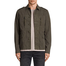 Buy AllSaints Taylor Military Jacket, Khaki Green Online at johnlewis.com