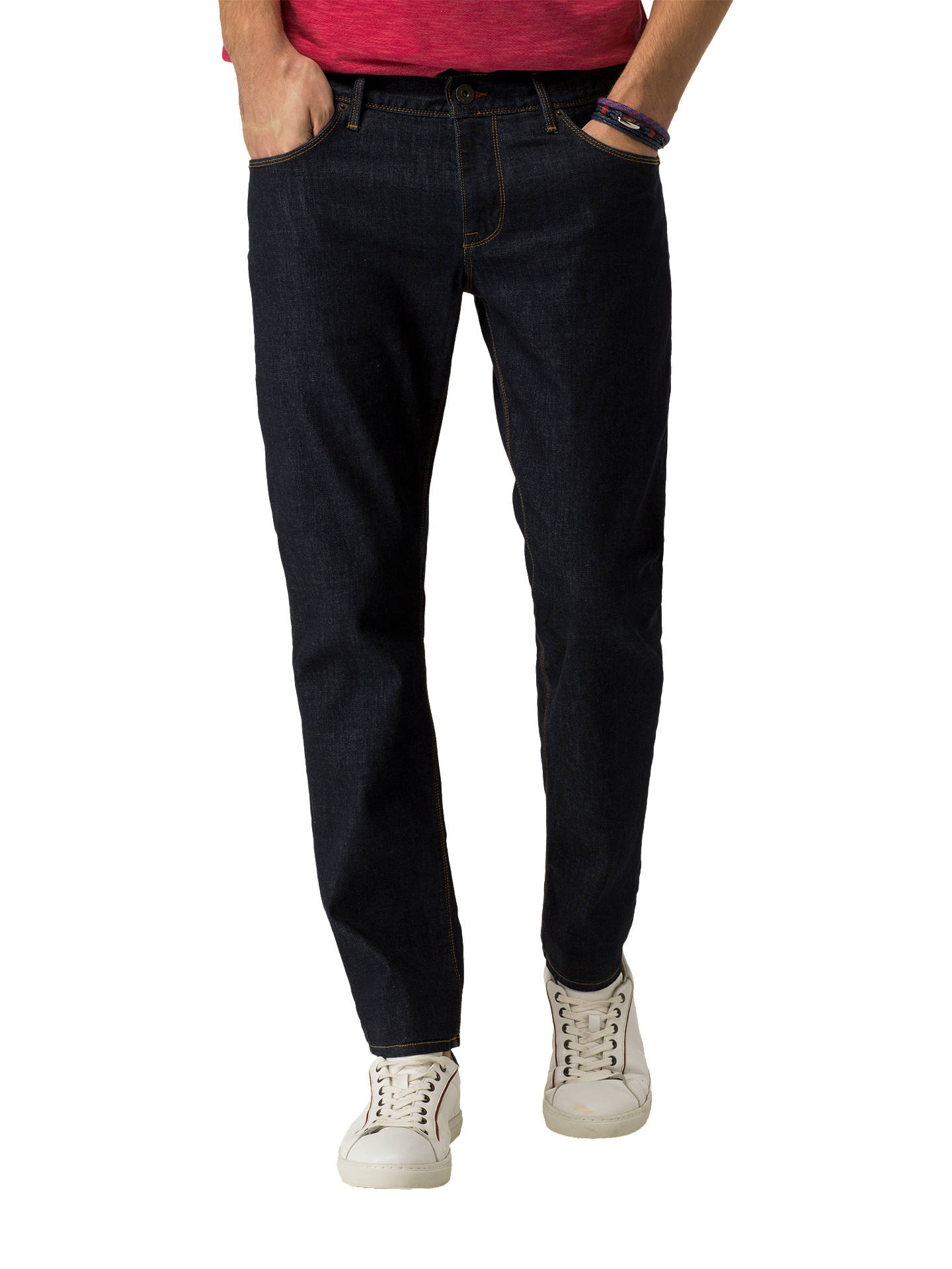c480a65d Buy Tommy Hilfiger Denton Straight Jeans, New Clean Rinse, 30R Online at  johnlewis.