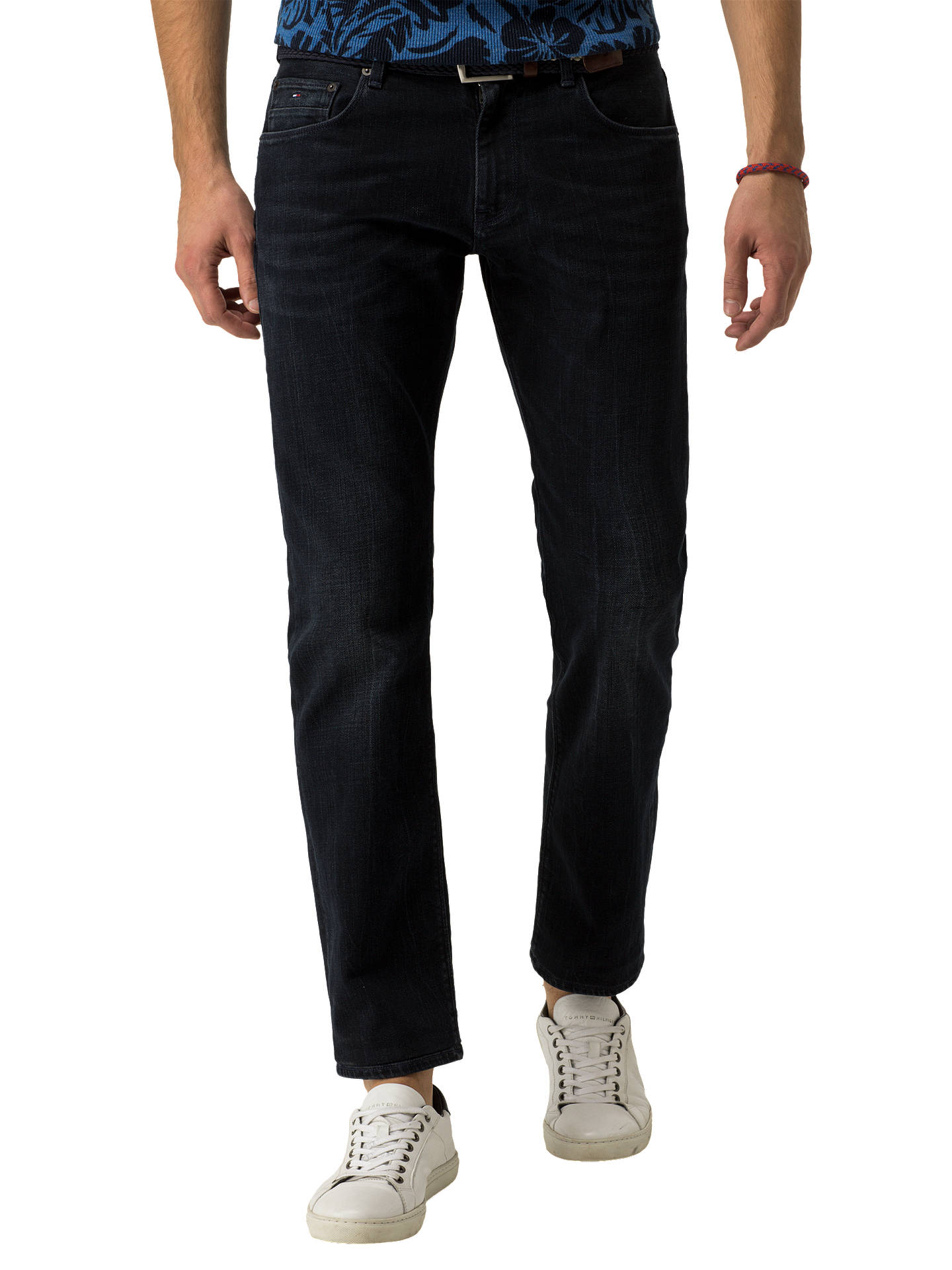 734d9937 Buy Tommy Hilfiger Denton Straight Jeans, Dark Clean Rinse, 30R Online at  johnlewis.