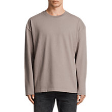 Buy AllSaints Ivon Long Sleeve Crew Neck T-Shirt, Putty Brown Online at johnlewis.com