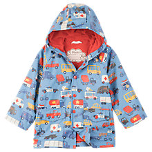 Buy Hatley Boys' Car Print Rain Coat, Blue Online at johnlewis.com